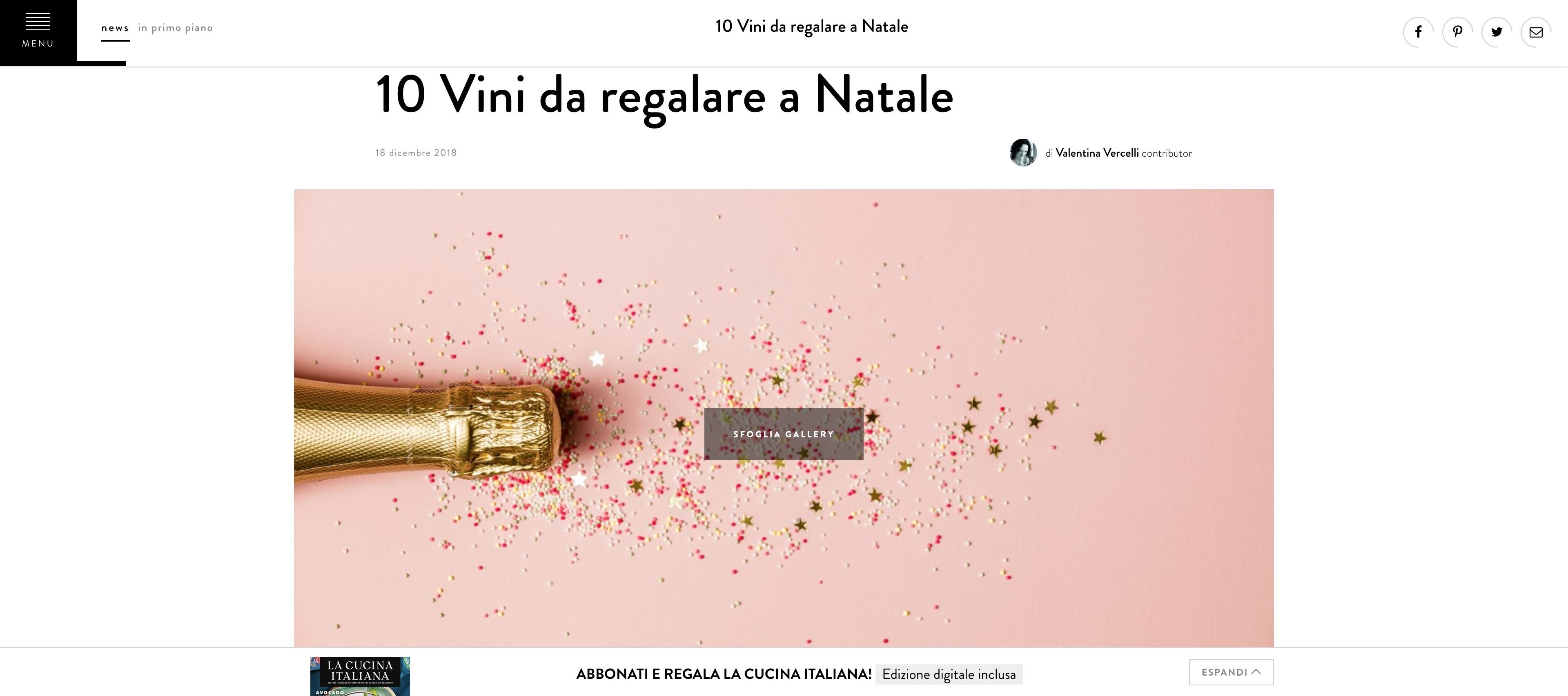 Cucina Natale 2019.La Cucina Italiana Vini Da Regalare A Natale Setteanime
